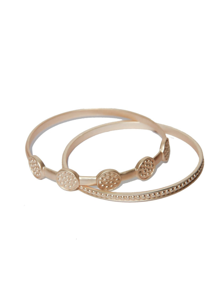 ENVY Jewellery Double Bangles in Gold