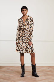 Fabienne Chapot Dorien Dress in Oatmeal Chocolate Print