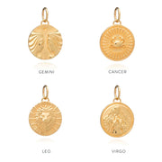 Rachel Jackson Zodiac Art Coin Necklace - Libra - Gold