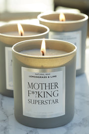 Naomi Joy Living Mother F*?king Superstar Natural Wax Candle in Lemongrass & Lime
