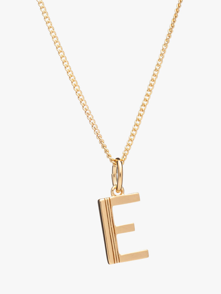 Rachel Jackson London Initial Pendant Necklace - E