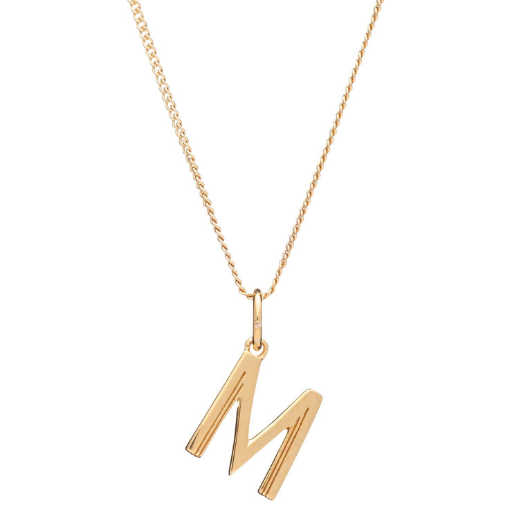 Rachel Jackson London Initial Pendant Necklace - M
