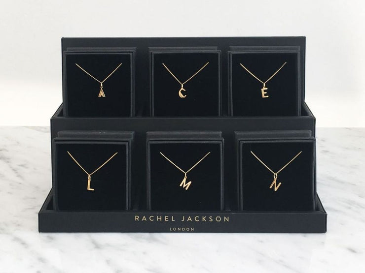 Rachel Jackson London Initial Pendant Necklace - J