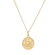 Rachel Jackson Zodiac Art Coin Necklace - Sagittarius - Gold