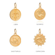 Rachel Jackson Zodiac Art Coin Necklace - Virgo - Gold