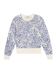 Rails Ramona Sweatshirt in Blue Mixed Animal