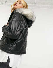 Urbancode Jaamini Quilted Jacket in Black