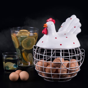A Cream Egg Rooster Basket