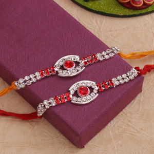 Designer Stone Rakhi set of 2