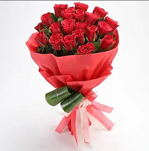 Romantic Roses Bouquet - Send Flowers Online