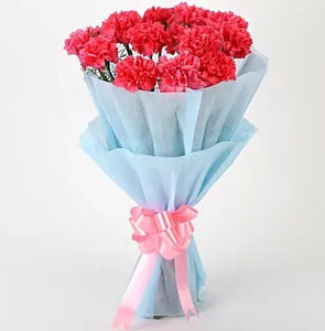 Pink Carnations Bouquet - Send Flowers Online