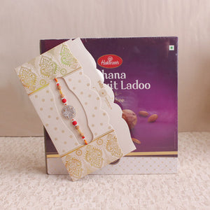 Rakhi With Dry Fruit Laddoo