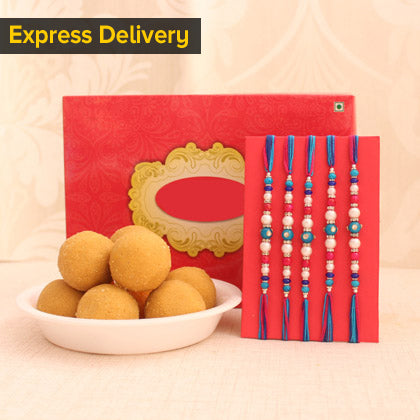 Rakhi With Besan Laddu