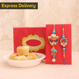 Bhaiya Bhabhi Rakhi with Milk Cake
