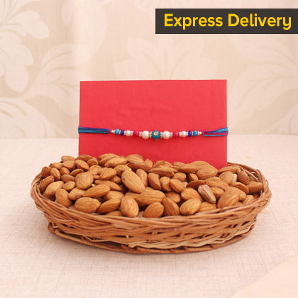 Rakhi With Almond Combo