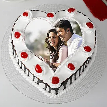 Heart Shape Photo Cake