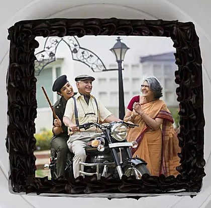 Dad Chocolate Photo Cake