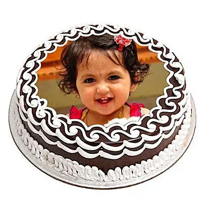 Cute Chocolate Photo Cake