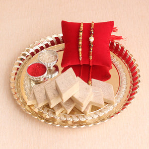 Thali With Kaju Barfi
