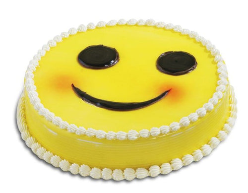 Smiley Butterscotch Photo Cake
