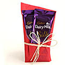 2 Cadbury Silk Chocolates 60gms with gift wraping