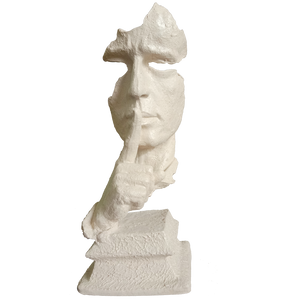 Abstract The Thinker Statue Keep Silence Statue for Home Decor