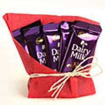 5 Dairy Milk Chocolates 12gms each with gift wraping