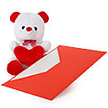 6 Inch Teddy Bear With Greeting Card as per Occasion