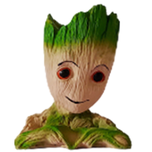Set of 4 Groot Resin Tabletop Planter for Home Decor