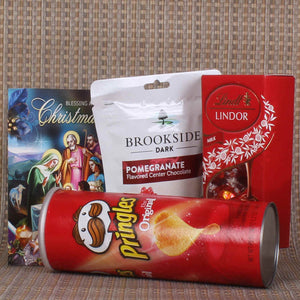 CHRISTMAS EXCLUSIVE PRINGLES AND LINDT LINDOR WITH BROOKSIDE CHOCOLATE