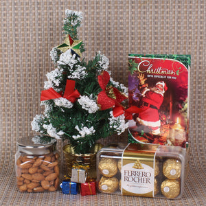 CHRISTMAS HAMPER WITH CHOCOLATE AND ALMOND