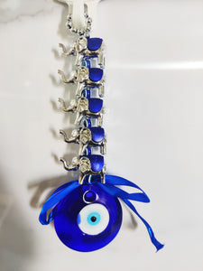 Elephant With Turkish Evil Eye Hanging
