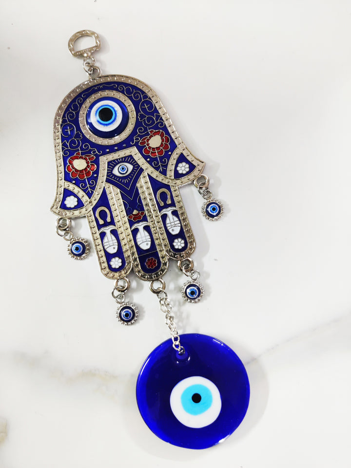 Hamsa Hand With Amulet Hanging