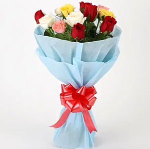 Love Colorful Bouquet - Online Flowers Delivery In Delhi
