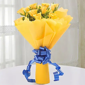 Bright Roses Bouquet - Online Flowers Delivery In Delhi