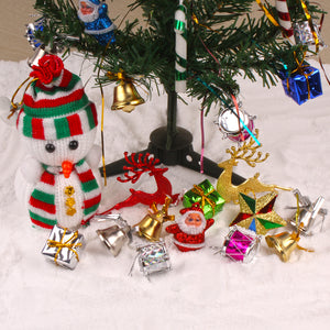 DECORATIVE CHRISTMAS TREE WITH WOLLEN SNOWMAN