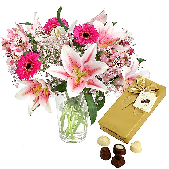 Flowers with Chocs