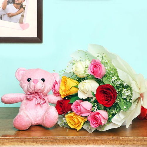 Mix roses and Teddy