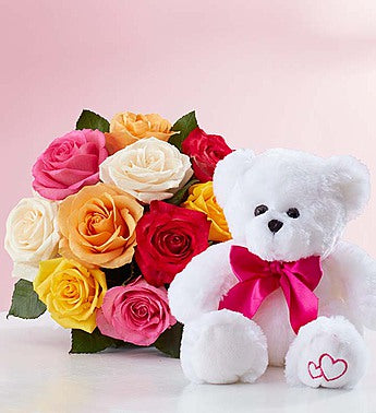 Beary Rose Bouquet