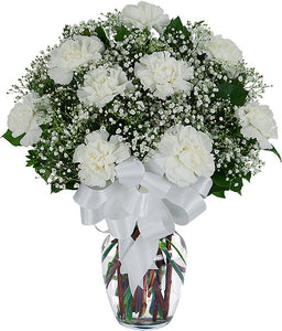 White Carnations - Send Flowers Online