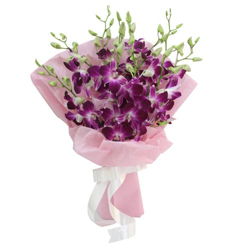 Purple Exotic Breez - Send Flowers Online