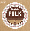 D'Addario EJ32 Folk Nylon Ball End Silver Wound/Black Nylon Trebles