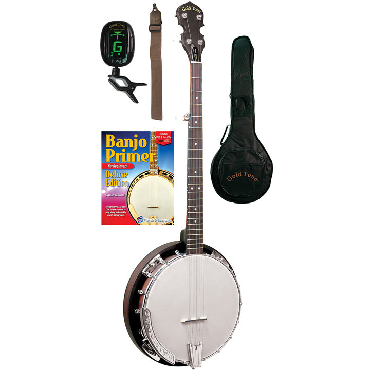 Gold Tone Cripple Creek Banjo Bluegrass Starter Pack CC-BG