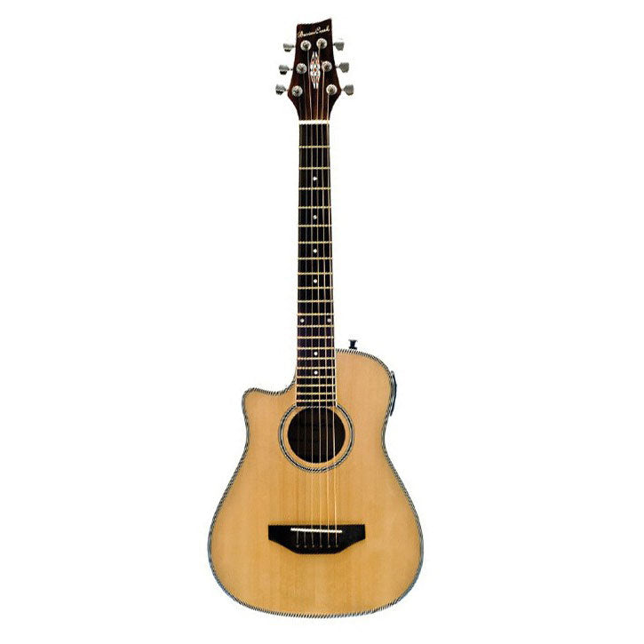 Beaver Creek Travel Size Acoustic Electric Natural Left Handed w/Bag BCRB501LCE
