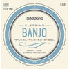 D'Addario EJ60 5-String Banjo Nickel Light 9-20
