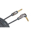 D'Addario Circuit Breaker Instrument Cable Right-Angle 20 feet
