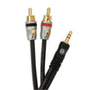 D'Addario Dual RCA to Stereo Mini Cable 5 feet