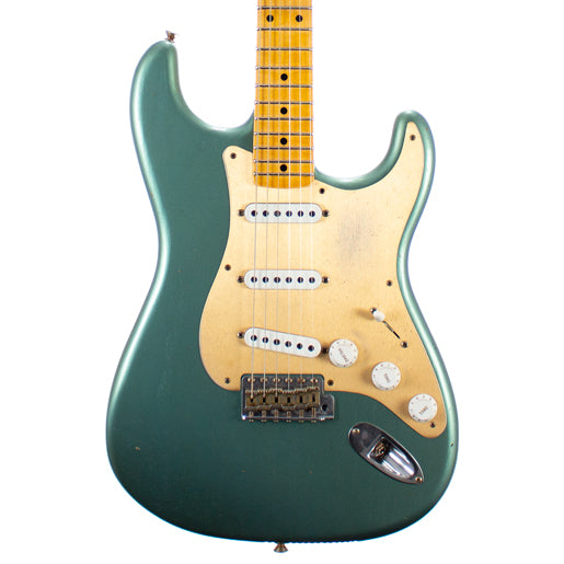 Fender Custom Shop Ltd 1955 Dual Mag Stratocaster Journeyman Relic Super Faded Aged Sherwood Green