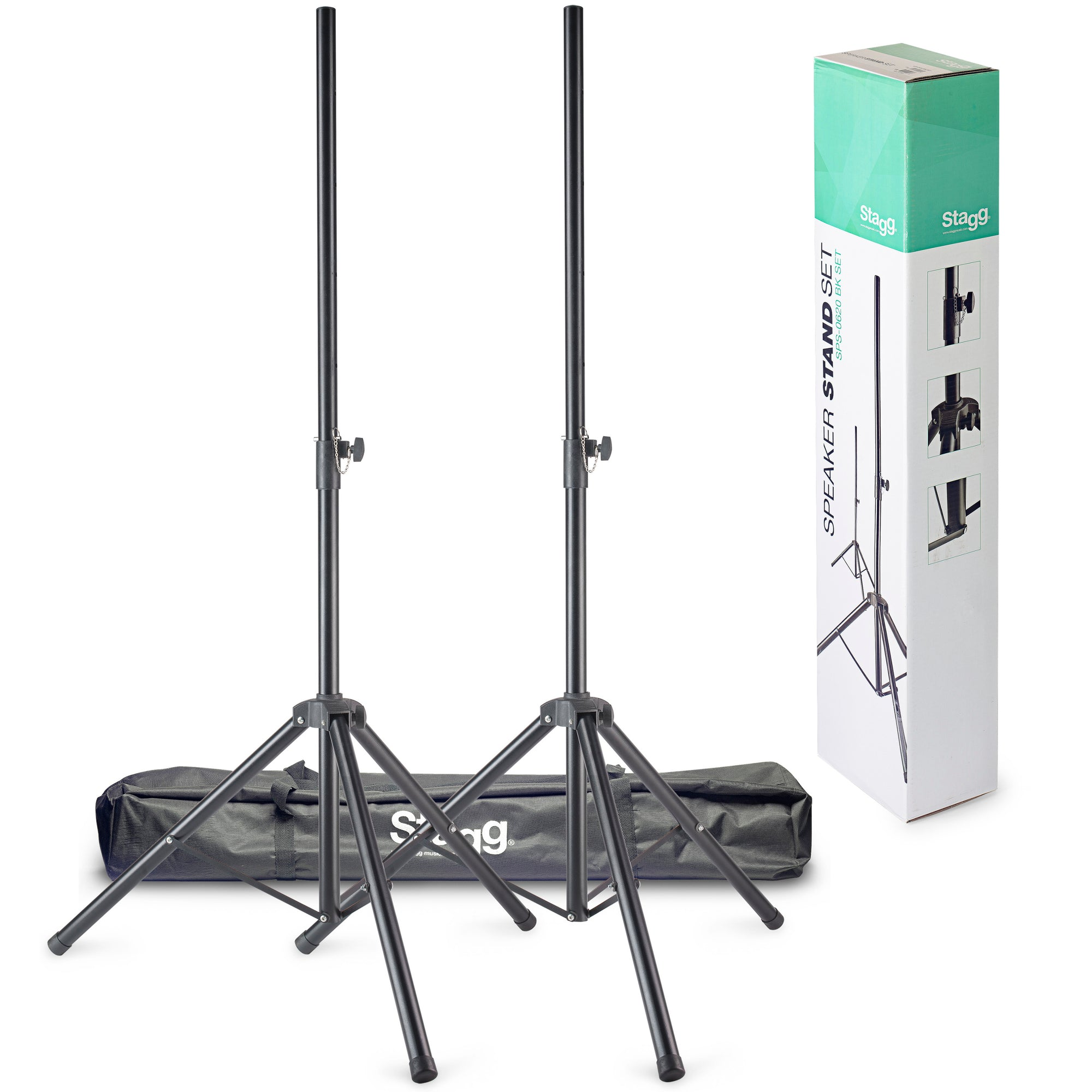 Stagg Metal Speaker Stand Pair SPS-0620