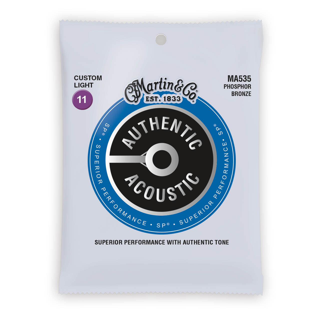 Martin Authentic Acoustic Strings Phosphor Bronze Custom Light 11-52 MA535